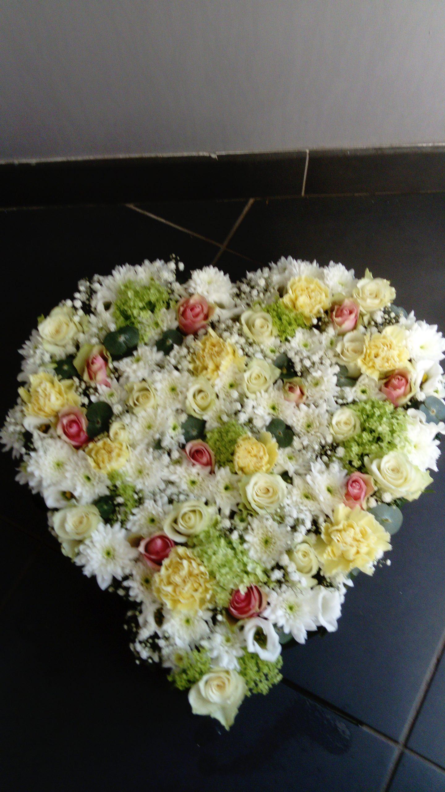 Coeur deuil - Monceau Fleurs Grenoble